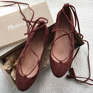 madewell lace up flats